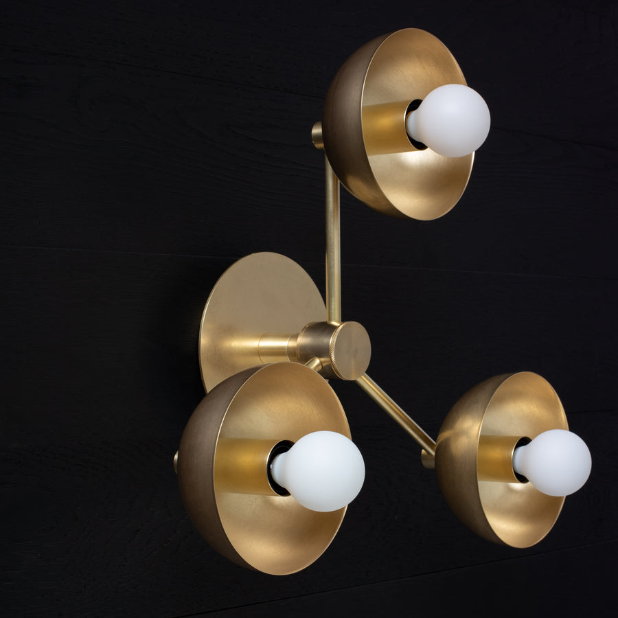 Triple Half Cup Dome Wall Sconce Tala Sphere I