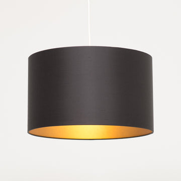 Black silk gold lining lampshade