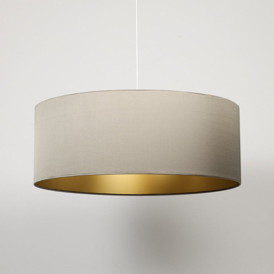 Olive satin silk gold lining extra large lampshade