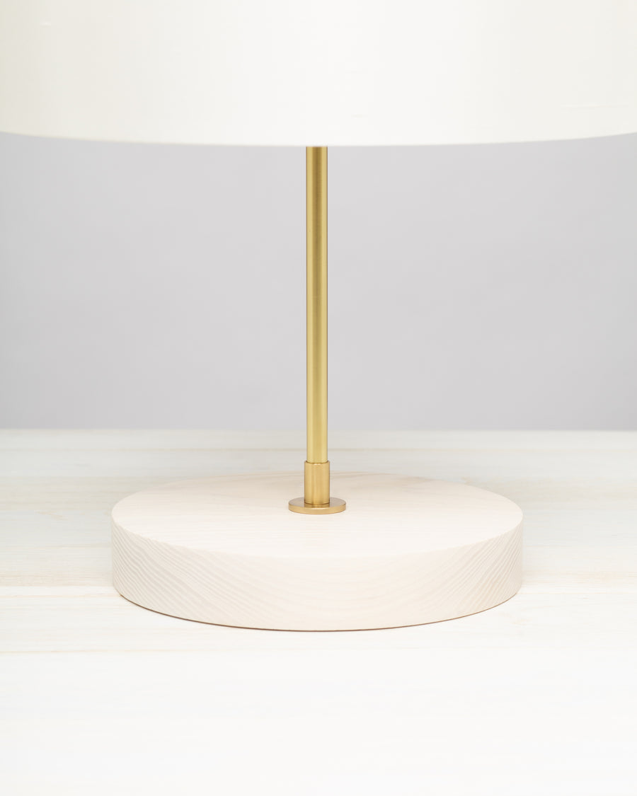 Porcelain Silk White Ash Table Lamp