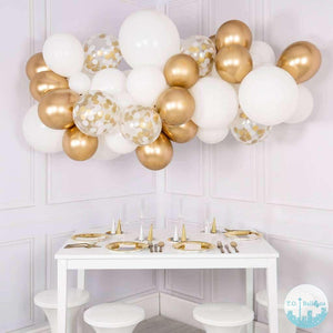 Lets talk about Weddings! - Balloons 36 balloons 3ft centerpieces chrome confetti