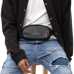 Embroidered Champion fanny pack GG NANI Heather Black/Black