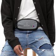 Embroidered Champion fanny pack GG NANI Heather Granite/Black
