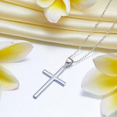 Silver Necklaces - Cross Pendant Necklace Solid 925 Sterling Silver Accessories Necklaces inQUE' | MYJINQ