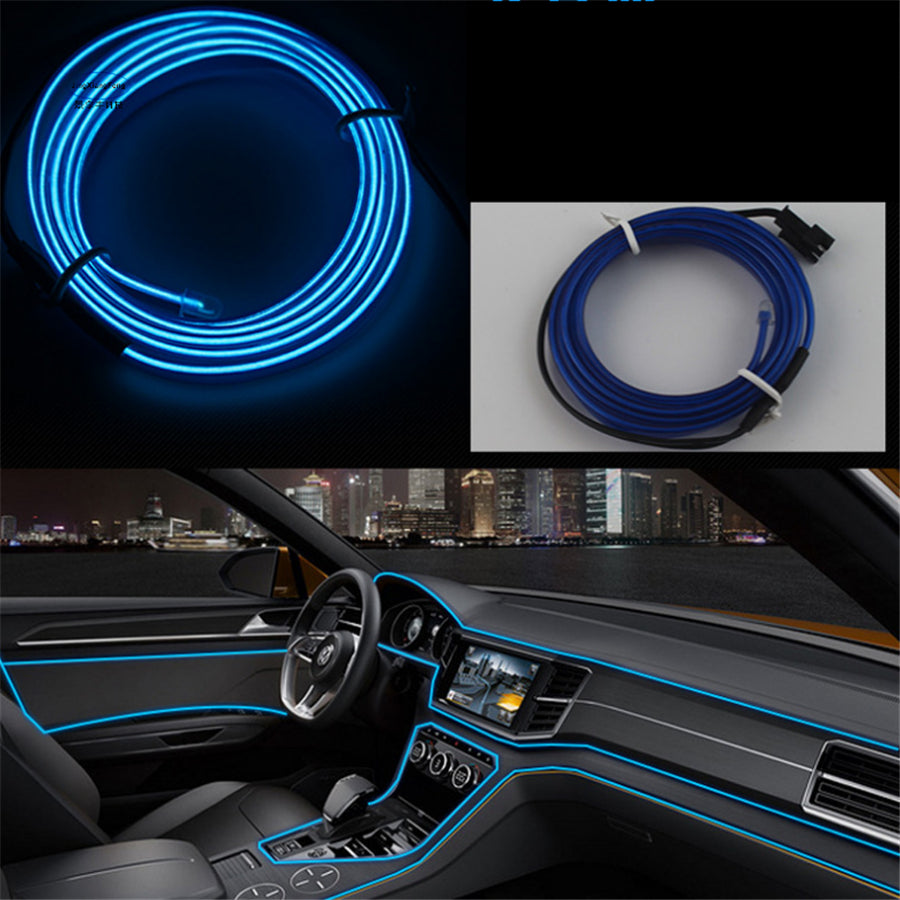 JingXiangFeng 2M Auto Car Interior LED EL Wire Rope Tube Line ...