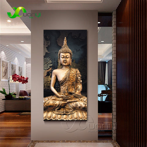 Beautiful Canvas Oil Painting of Buddha