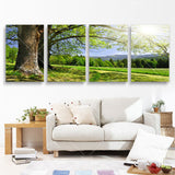 4 Panel Modern Abstract Printed Tree Picture