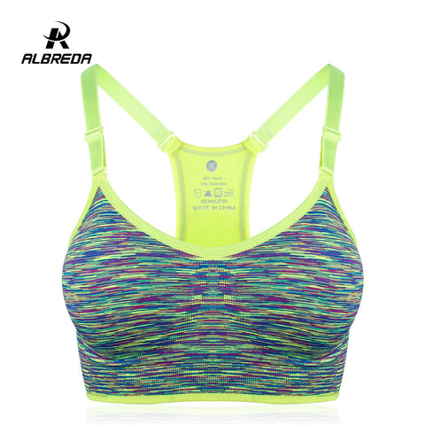 Albreda Segment Colored Breathable Sports Bra
