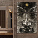 Classic 3 Panel Canvas Buddha Painting