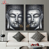 Buddha 2-PC Canvas Paintings