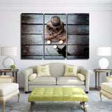 Canvas Prints Paintings Living Room Home Wall Art Decor 3 Pieces Mood Garden Buddhism Religion Pictures Buddha Posters Framework