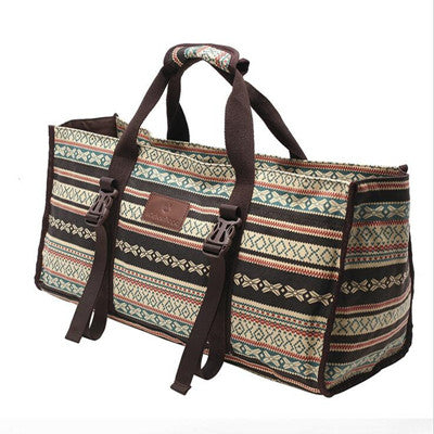 British Style Canvas Yoga Bag