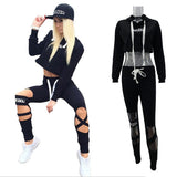 Daddy Chen Outdoor Fitness Gym Jogging Suit Quick Dry Sexy Women Cotton Running Tights Set Breathable Yoga Sportswear Clothing