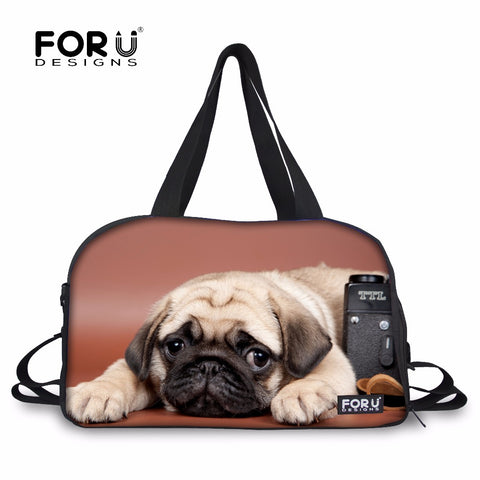 FORUDESIGNS Large Bulldog Design Sports Bag