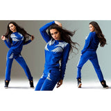 Hoodies Tracksuit  Sport Suit Patchwork Sweatshirt Jogging Suits 2 piece Set  Plus Size workout sexy sports suits
