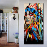 Colorful Feathered Indian Painting