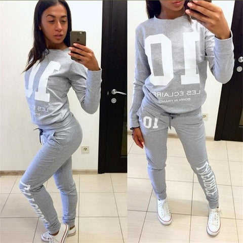 Women's Alphanumeric Jogging Suit