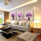 Painted Flowers canvas wall paintings art oil pictures modular painting printed on bilder modern deco decoration maison picture