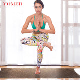 YOMER Yoga Mats 6mm Yoga Pads Fitness Mat PVC Material Exercise Gymnastics Mats Fold Flax Unique Design Fitness with Yoga Bag