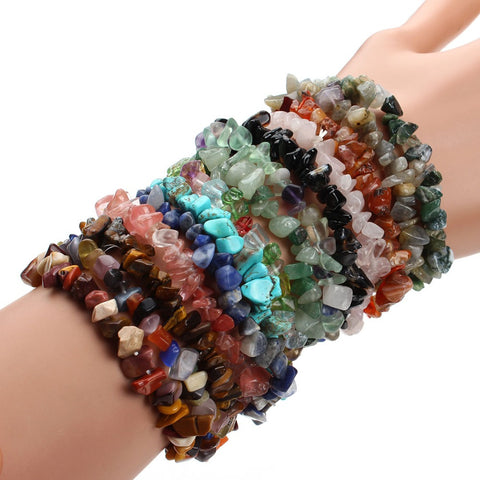 Gravel Natural Stone Bracelets For Women