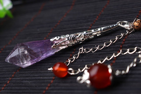 New Natural Purple stone Pendulums for dowsing healing crystals