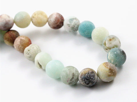 Natural Amazonite stone beads Forest Loose