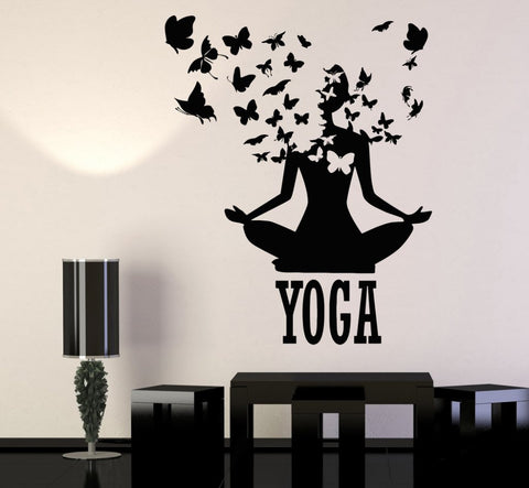 Lotus Meditation Buddhism Vinyl Wall Stickers