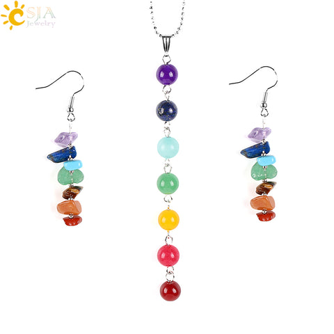 7 Chakras Yoga Women Jewelry Sets