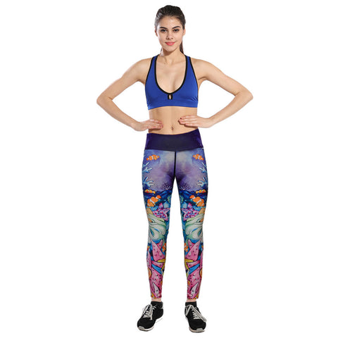 high waist Workout printing yoga Pants