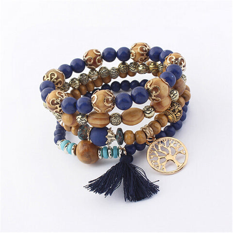 Bohemian Multi-layer Charm Bracelet by Zoshi