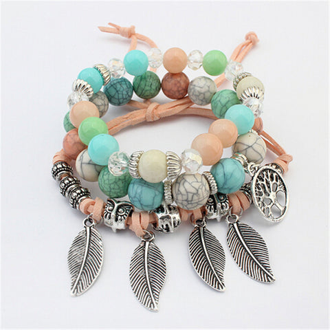 Bohemia Tree of Life Charm Bracelet by Zoshi