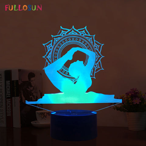 Yoga 3D Night Lights 7 Color