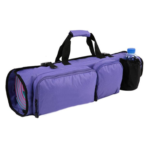 Yoga Mat Bag with Open Ends Mobile Pocket Water Bottle Holder...