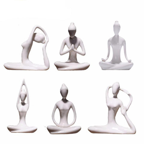 Abstract Art Ceramic Yoga Poses