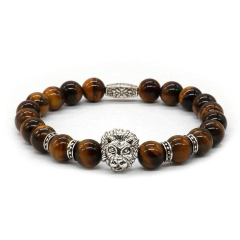 Antique Style Lion's Head Beaded Bracelet