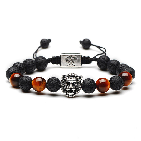 Natural Tiger eye Stone Buddha  Bracelets