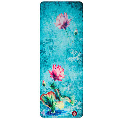 Light Floral Print Yoga Mat