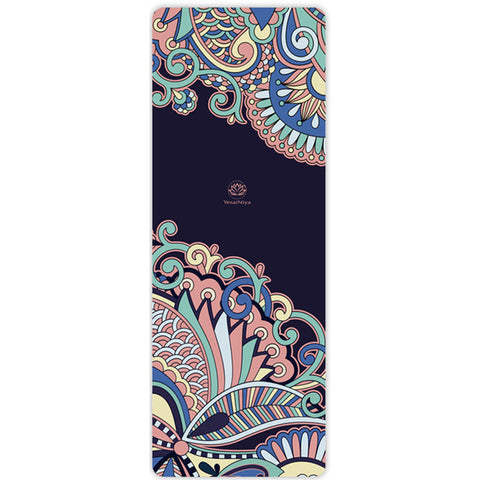 suede + original ecological rubber yoga mat