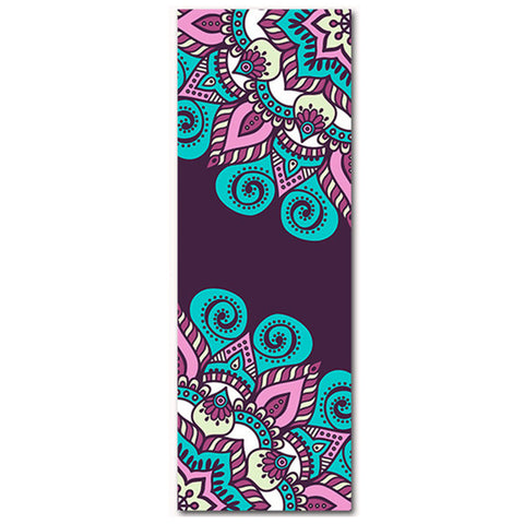 Sea Flower Faux Suede Yoga Mat by Aimida