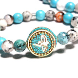 Mix Color Natural Stone Lotus Bracelets