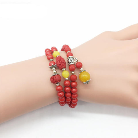 Brand Handmade Diy Jewelry Red Cinnabar Trendy Natural Stone