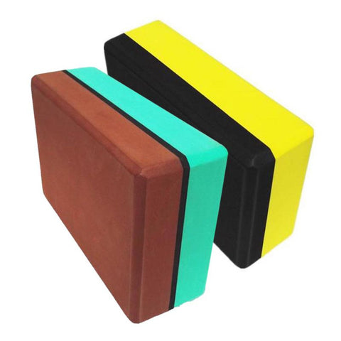 Split Colored High-density Yoga Blocks