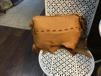 Deer skin hand made pillow