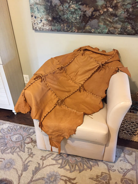 Natural Deer Hide Throw