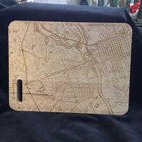 West Columbia SC Map Bar Cutting Board