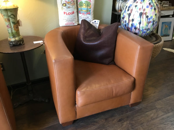 Brown Leather Armani Chair