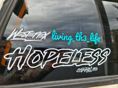 Signature Hopeless Stickers