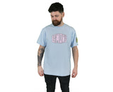 Title Print Tee (Blue/Pink)