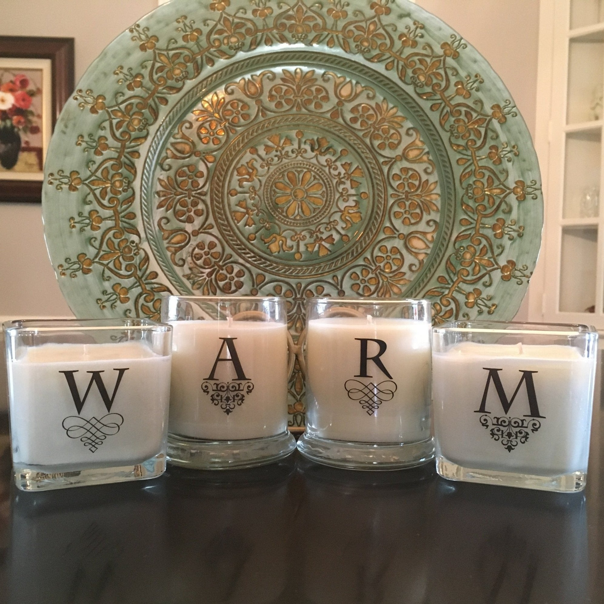 FANCY INITIAL CUBE OR TUBE - Jamcat Candles