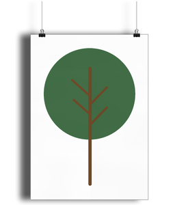 A3 Nursery Poster - Unframed - Round Tree